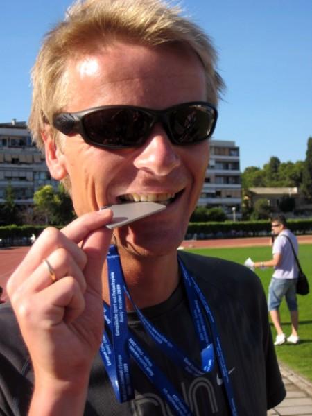 Spennende start i Rotterdam; Ole Kristian Heggheim, som har herjet på resultatlistene i karuselløpene på Sørlandet. Foto: Frode Monsen