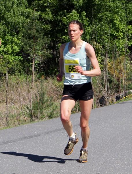 Inger Liv Bjerkreim Nilsen viser imponerende form om dagen, med sin andre seier på 4 dager! Her fra Skaubygdaløpet på søndag. Foto: Trond T. Hansen