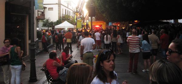 Fest i målområdet i Los Llanos.