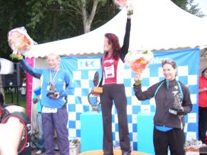 Kristin Lie på pallen allerede i debuten i Almere i 2006. Lørdag er hun tilbake samme sted. Foto: Fra bloggen