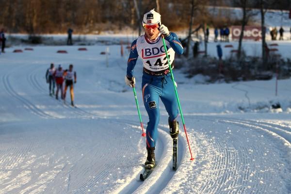 Martin Johnsrud Sundby i herlig driv på 15 km klassisk i Beitosprinten. (Foto: Bjørn Hytjanstorp)