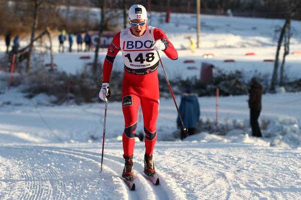 NM-vinner fra sprinten i fjor, Pål Golberg, leverte også svært lovende takter med 4.plass på 15 km klassisk. (Foto: Bjørn Hytjanstorp)