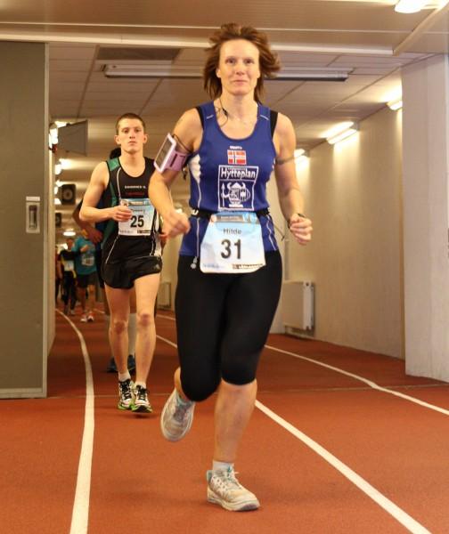 Hilde Johansen satser friskt i helgen. her fra fjorårets løp. (Foto: Bjørn Hytjanstorp)