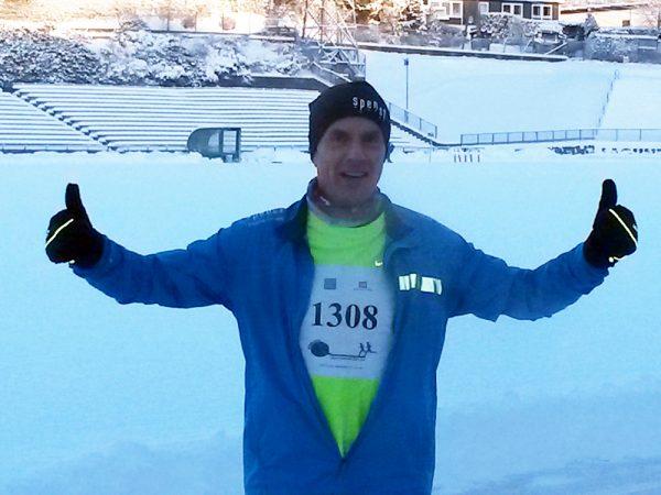 Maratonmannen fra Førde, Terje Lyngstad, fotografert av maratonmannen fra Øvre Årdal, Bjørn Fretland