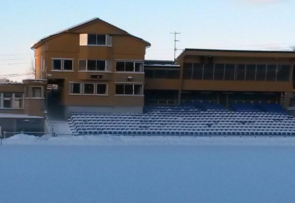 Vinterleg Fana stadion før start