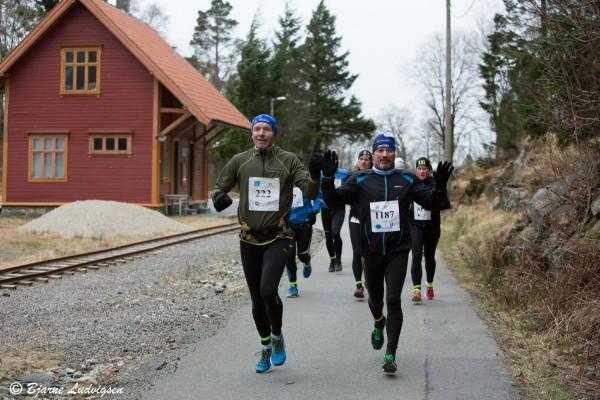 Morten Vestvik (t.v.) og Trond Pedersen, to muntre herrer og ivrige maratonløpere. (Foto: Bjarne Ludvigsen, melkesyre.no)