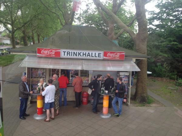 En typisk tysk Trinkhalle, like vanlig her som en kiosk i Norge.