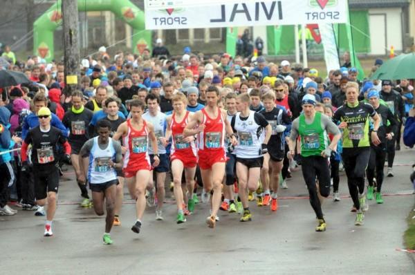 Holmestrand Maraton var i år flyttet til sentrum. Her bilde fra fjorårets løp. (Foto: Arrangørens hjemmeside)