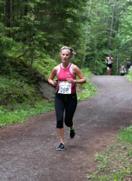 Trude Alvestad knep tredjeplassen på Halvmila.