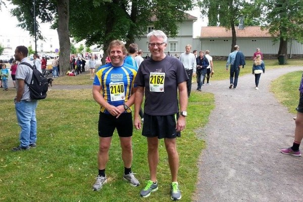 før start, Richard og jeg