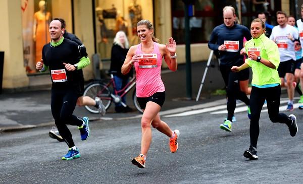 Tonje Berg fra løpsklubben 1814 blir nummer 45 i den store kvinneklassen på 40.51. Foto: Bjørn Hytjanstorp