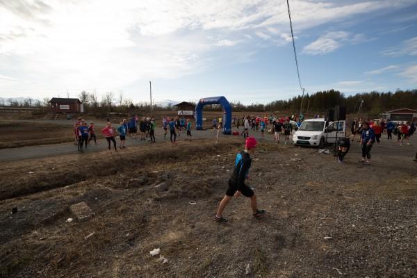 Like før start i det syvende løpet i Tromsøkarusellen