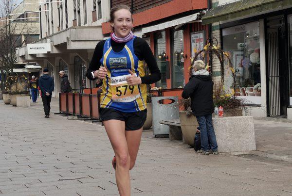 Kjersti Lerkerød - også hun fra Bøler IF - var nest raskeste kvinne på halvmaraton. (Foto: Frode Monsen / Sportsmanden)