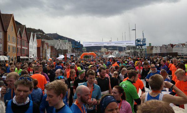 SUKSESS: Bergen City Marathon har blitt et av landets største løp på rekordtid. : Frode Monsen / Sportsmanden.no