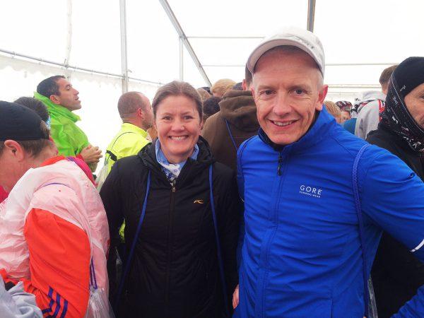 Vibecke og Espen i teltet
