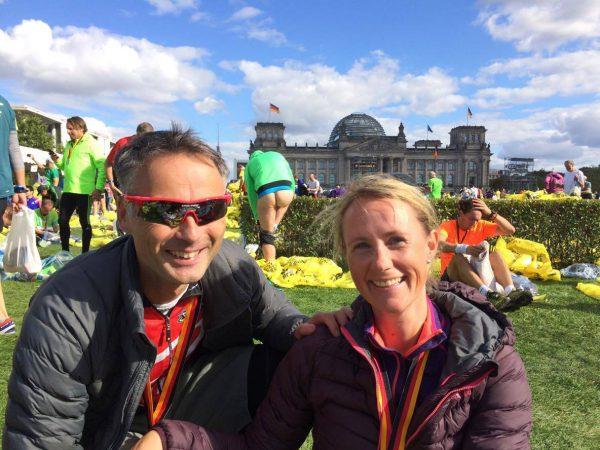 Fornøyd løperpar i Berlin 2015.