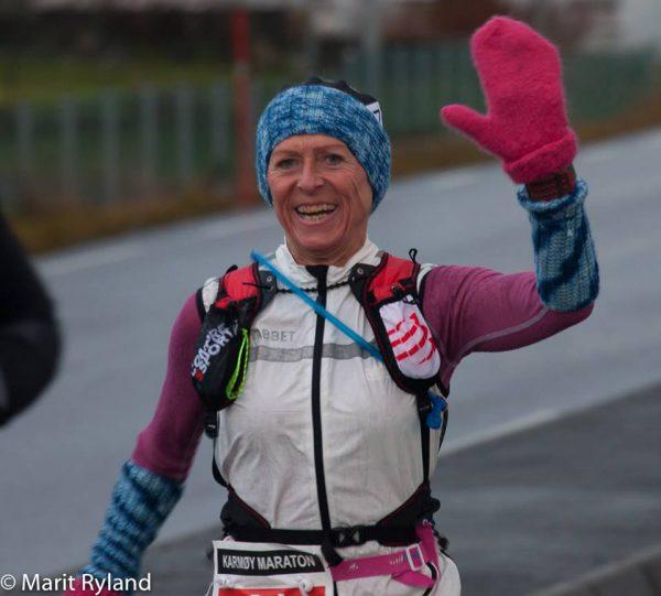 Sprudlende Liv-Berit Jegteberg Lystad fra Drøbak er en av de som løper aller flest maratonløp i Norge, land og strand rundt. http://live.eqtiming.no/23297?focusuid=32469#result:74602-2-923325-1-1-